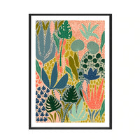 Colourful Abstract Floral Wall Art Print