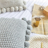 Knitted Pom Pom Cushion Covers