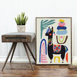 Llama canvas wall art