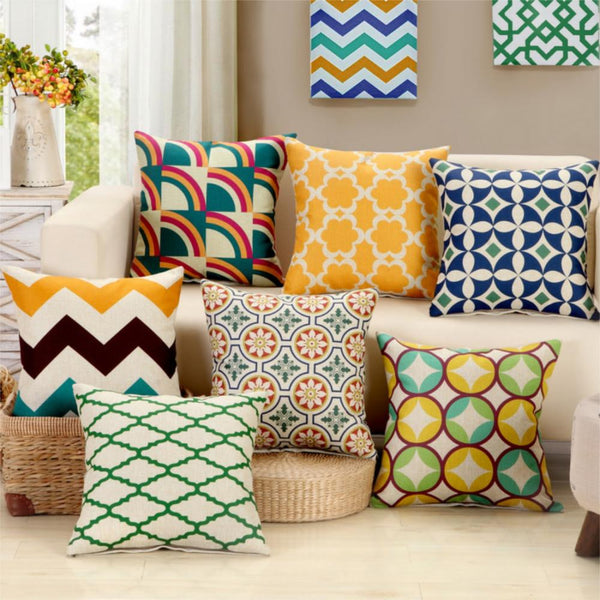 Mediterranean Style Cushion Covers
