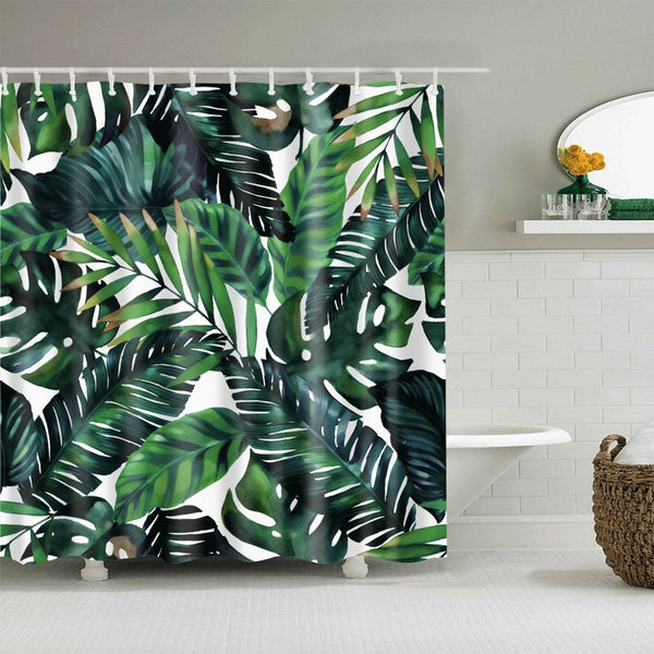 Tropical Plant Shower Curtain