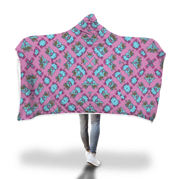 My Shimmering Unicorn Kaleidoscope Pattern Hooded Blanket