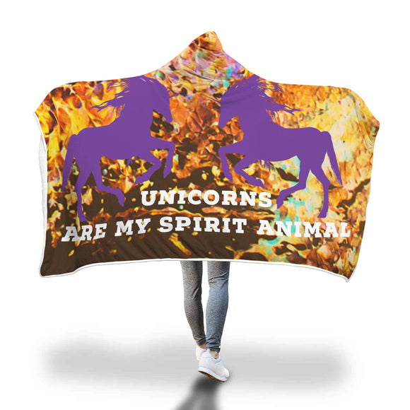 My Shimmering Unicorn Unicorns Are My Spirit Animal Hooded Blanket