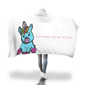 My Shimmering Unicorn I am Magical Just the Way I Am! hooded blanket