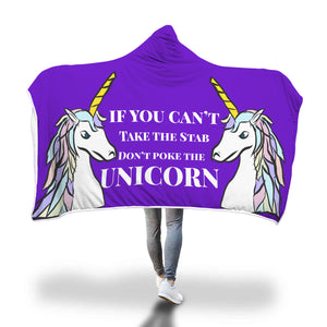 My Shimmering Unicorn Don't Poke The Unicorn Hooded Blanket
