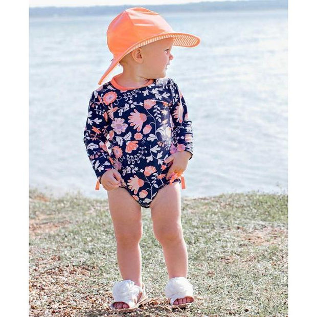 Baby & Toddler Girls One Piece Rashguard Swimsuit Botanical Beach-OneTrail Gear