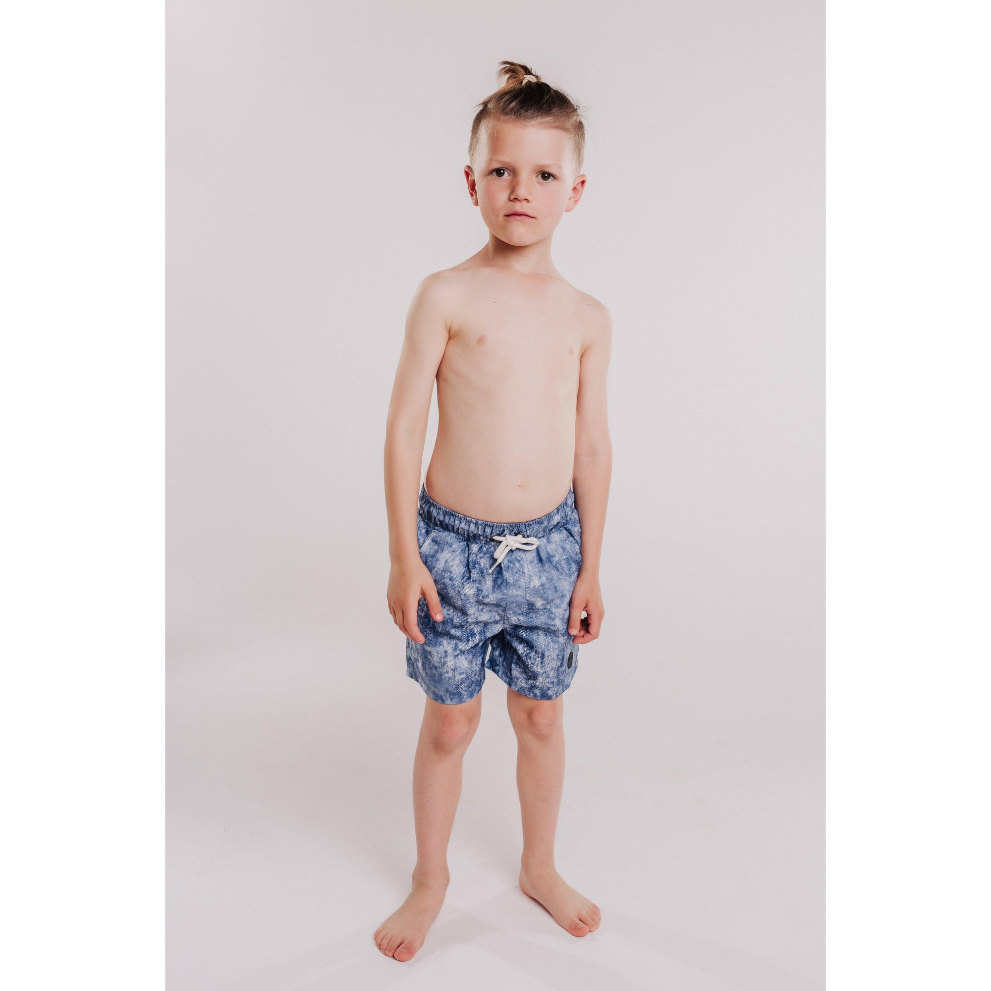Boys Denim Inspired Beach Short (Denim)-OneTrail Gear