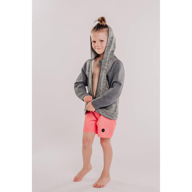 Boys Power Stretch + 3D Fleece Combo Hooded Jacket-OneTrail Gear