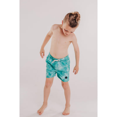 Boys Tie Dye Beach Short (Mint)-OneTrail Gear