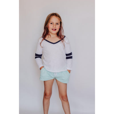Girls 3/4 Sleeve Top White-OneTrail Gear