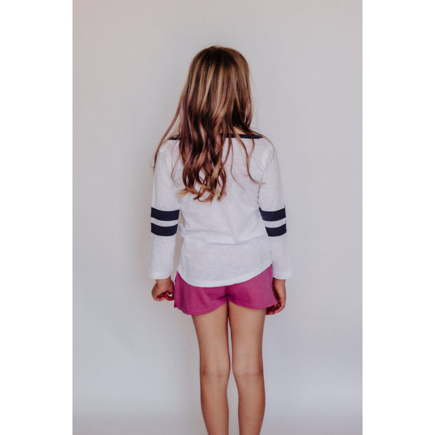Girls Solid Draw String Beach Shorts Rose-OneTrail Gear
