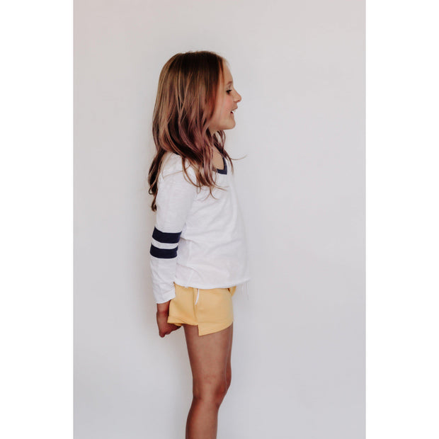 Girls Solid Draw String Beach Shorts Yellow-OneTrail Gear