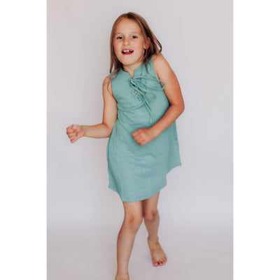 Girls Tank Dress With Front Tie Mint-OneTrail Gear