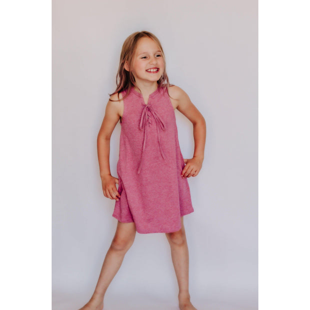 Girls Tank Dress With Front Tie Rose-OneTrail Gear