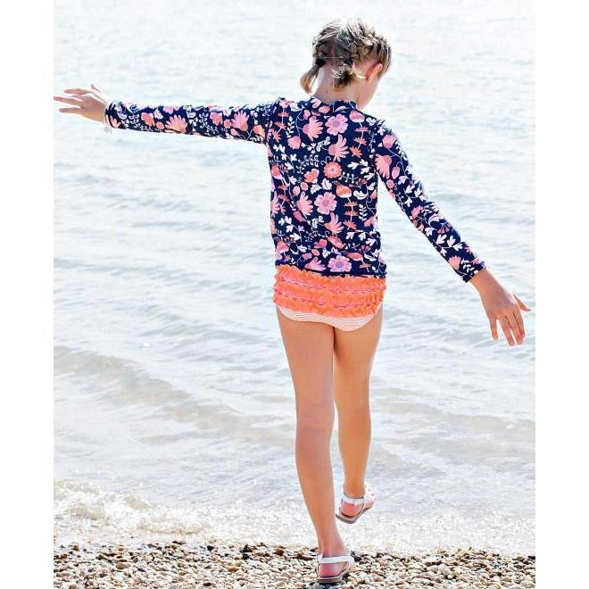 Little Girls Rashguard Bikini Botanical Beach-OneTrail Gear