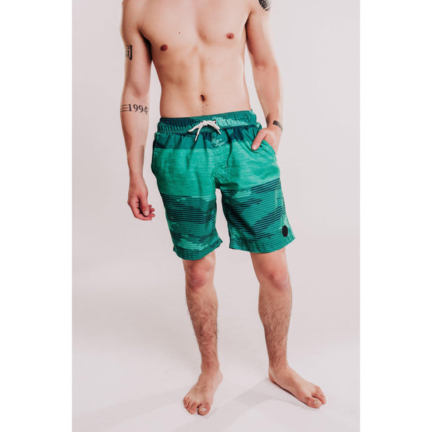 Mens Patterned Beach Shorts Jade-OneTrail Gear