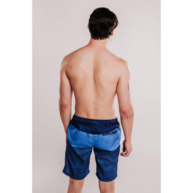 Mens Patterned Beach Shorts Navy-OneTrail Gear