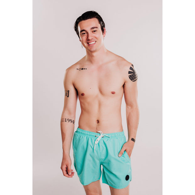 Mens Solid Beach Short - Mint-OneTrail Gear