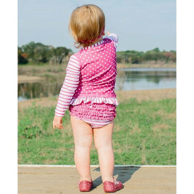 Toddler Girls Rashguard Bikini Berry Striped Polka-OneTrail Gear