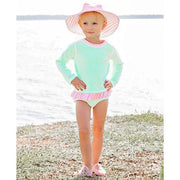 Toddler Girls Rashguard Bikini Mint Seersucker-OneTrail Gear