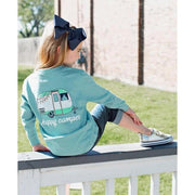 Toddler Happy Camper Long Sleeve Tee-OneTrail Gear