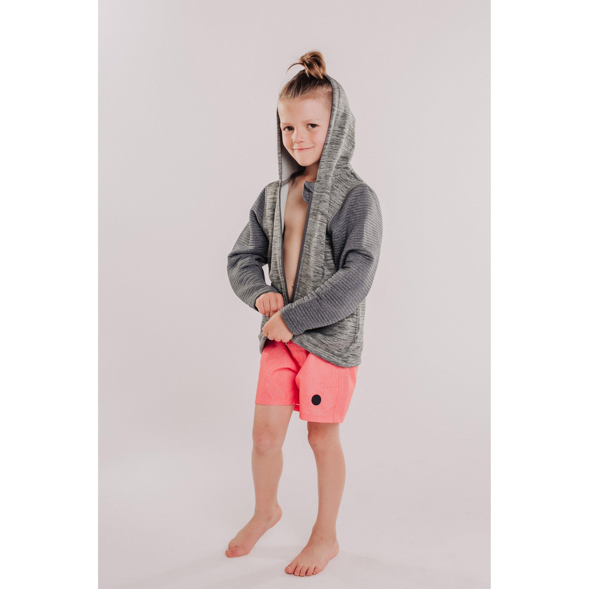 Toddler Power Stretch + 3D Fleece Combo Hooded Jacket-OneTrail Gear