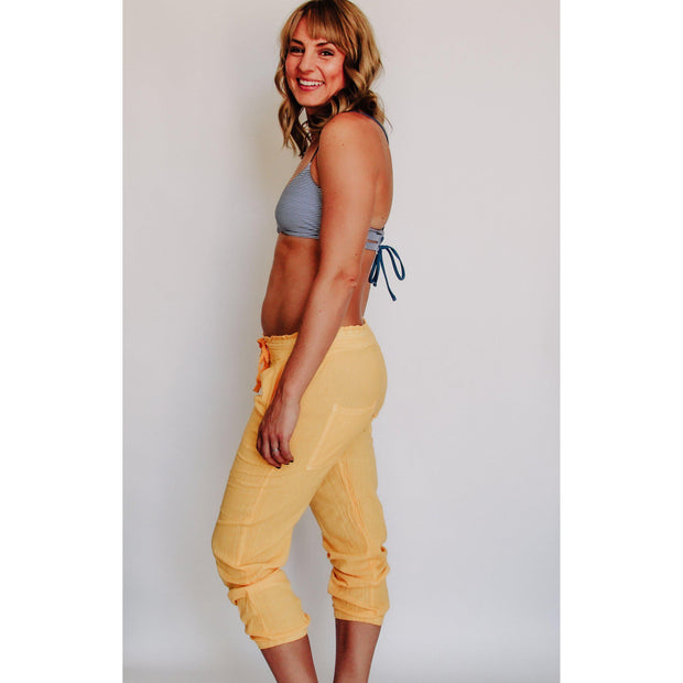 Women's Gauze Joggers Yellow-OneTrail Gear