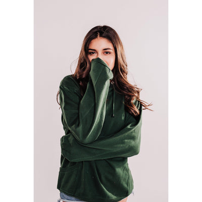 Women's Pigment Dyed Sweatshirt With Side Pockets - Green-OneTrail Gear