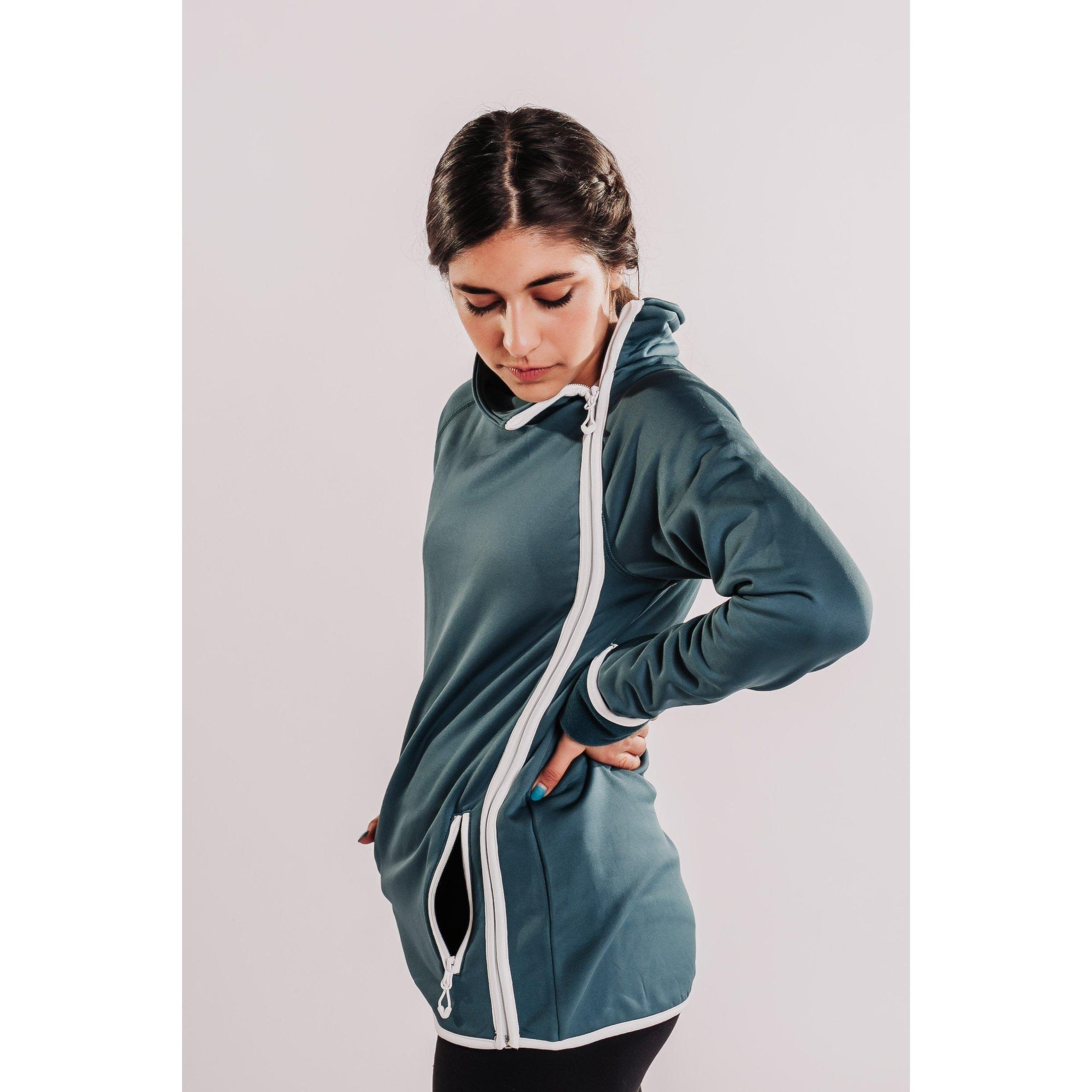 Women's Power Stretch Fleece Side Zip Fitted Jacket-OneTrail Gear