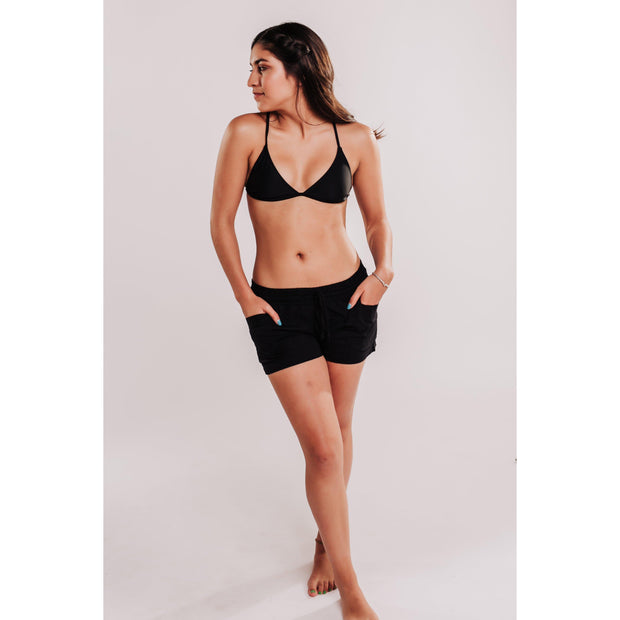 Women's Woven Dobby Shorts - Black-OneTrail Gear