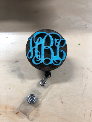 Custom Monogram Badge holders - Minutes 2 Memories