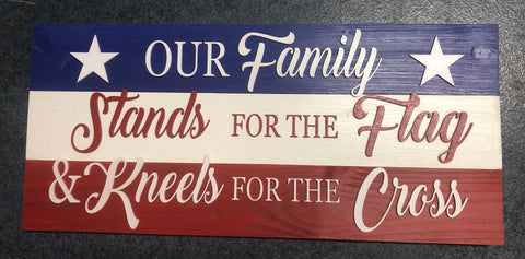 Patriotic family sign