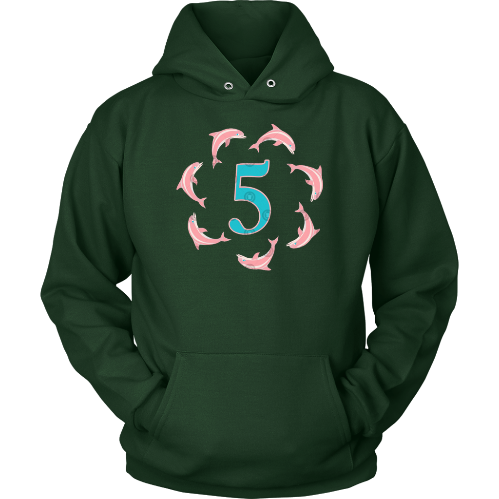 5Th Birthday Leaping Dolphin Gift For Boys And Girls T Shirt
