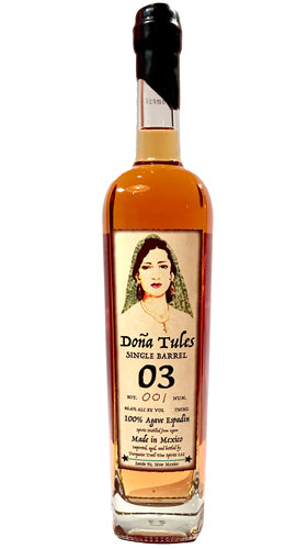 Dona Tules Single Barrel Anejo Mezcal Barrel #3