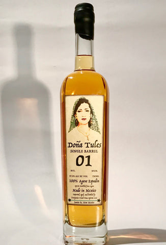 Doña Tules Single Barrel Anejo Mezcal by For Sipping Only. The Finest Aged 100% Agave Spirits from Tiny Traditional Producers Throughout Mexico.