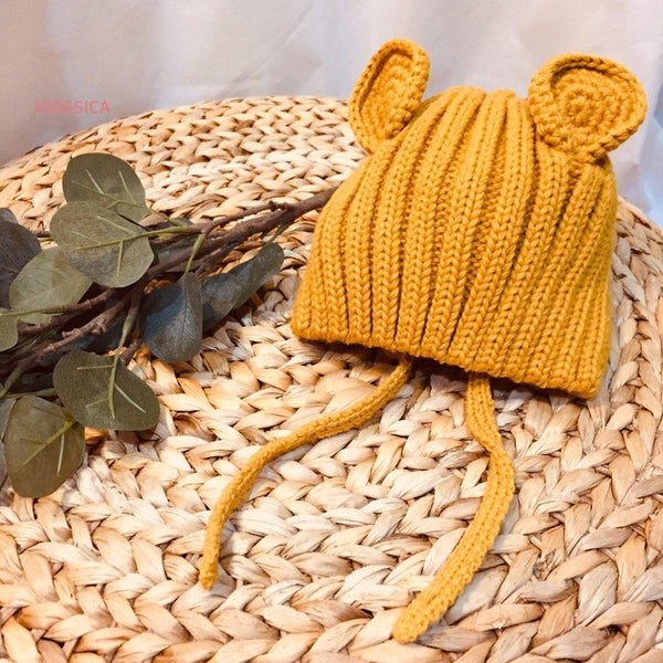 Knit Bear Hat (Two Colours )