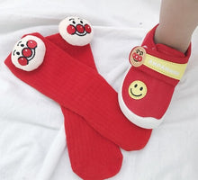 Load image into Gallery viewer, Anpanman Knee Socks ( Two pairs )