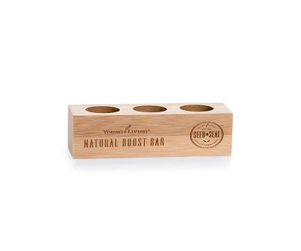 Bamboo Oil Holder - Natural Boost Bar - holds Three 5-ml essential oil bottles