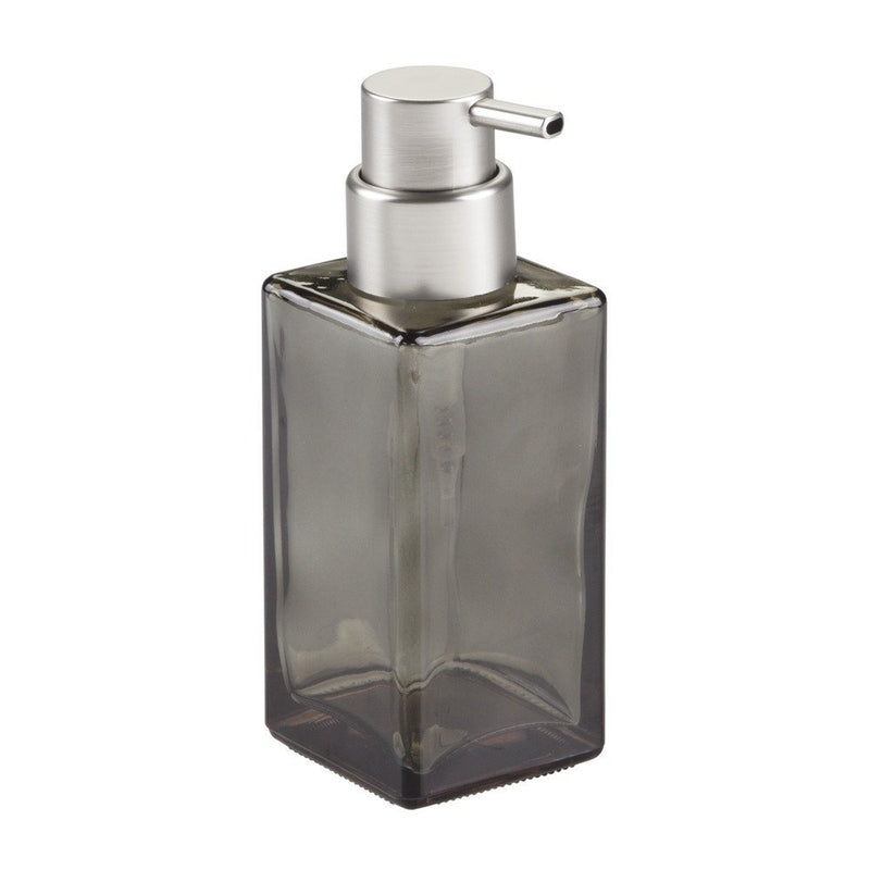 Glass Foaming Hand Soap Pump iDesign - 14 oz Smoke with Chrome Pump
