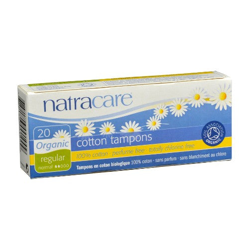 Natracare Tampons Organic Regular Absorbancy Non Applicator 20ea