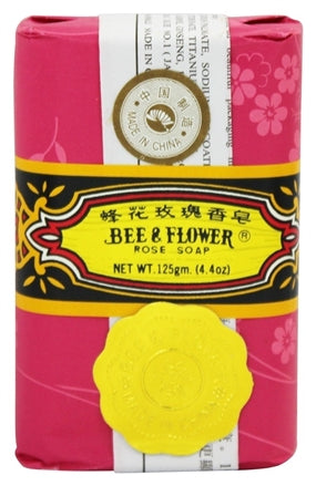 Bee & Flower Rose Soap - 4 pack gift box