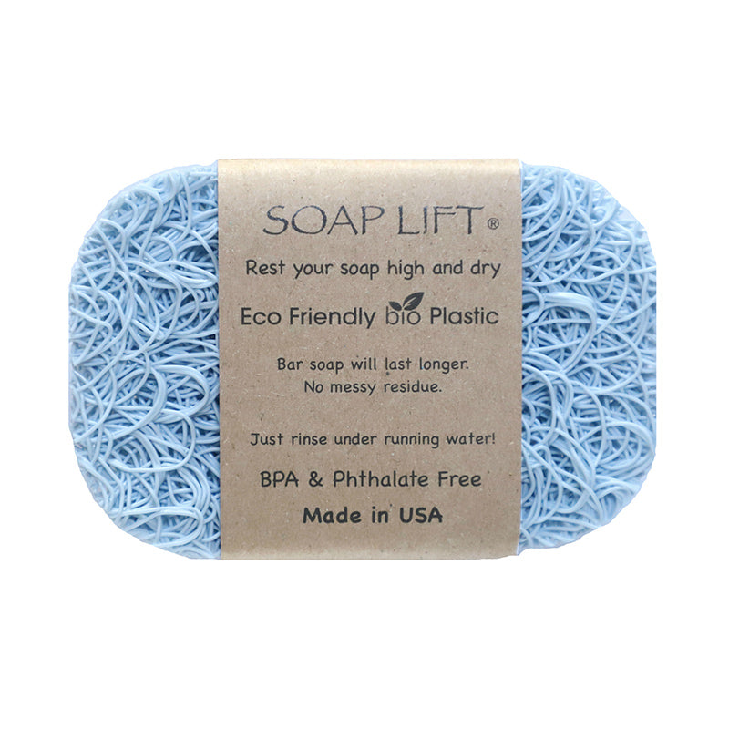 Soap Lift Original Seaside Blue keep soap dry by giving it a lift