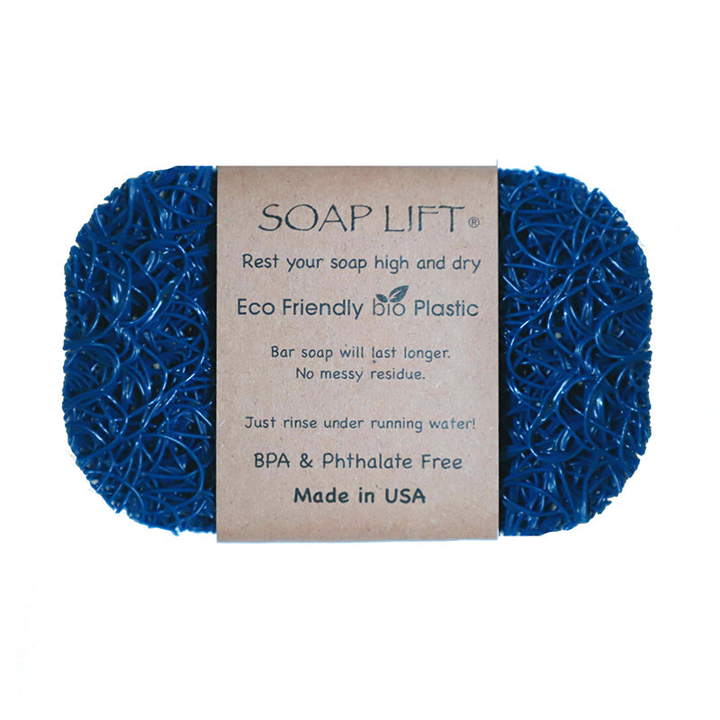 Soap Lift Original Royal Blue keep soap dry by giving it a lift