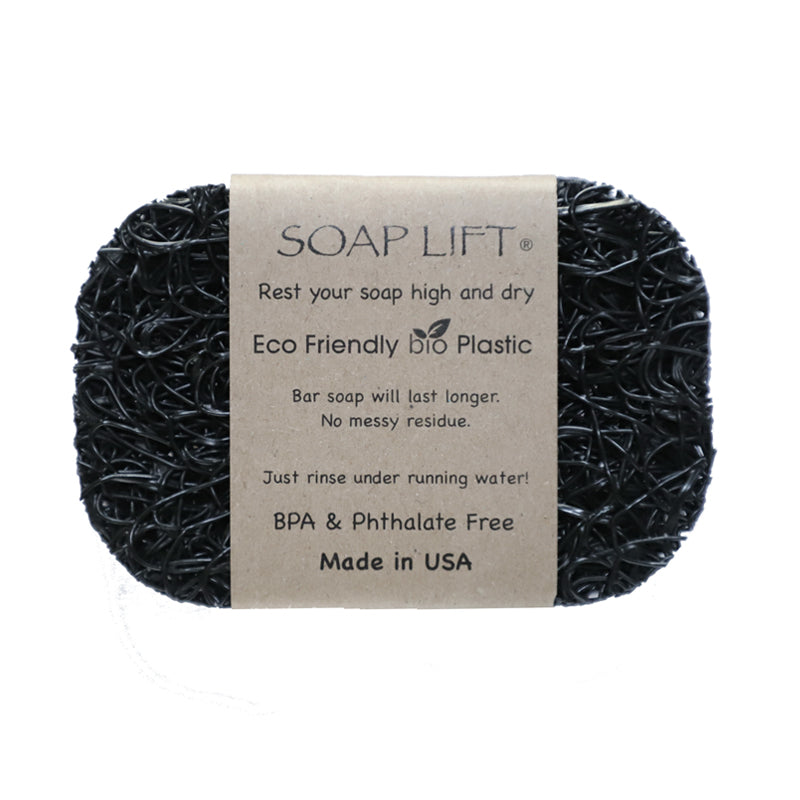 Soap Lift Original Black keep soap dry by giving it a lift
