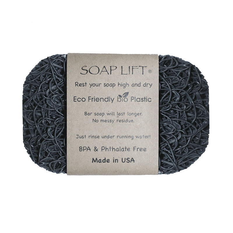 Soap Lift Original Grey keep soap dry by giving it a lift