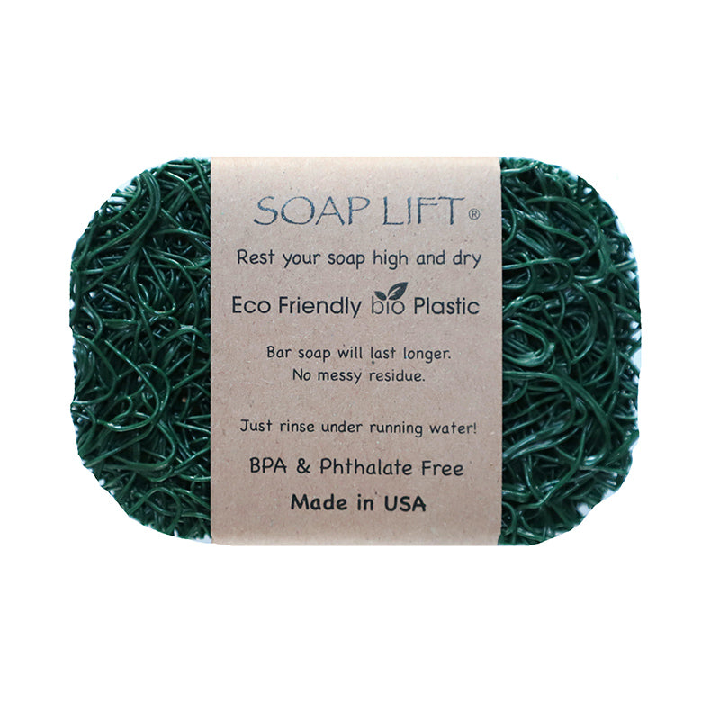 Soap Lift Original Hunter Green keep soap dry by giving it a lift