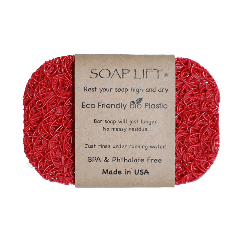 Soap Lift Original Red keep soap dry by giving it a lift