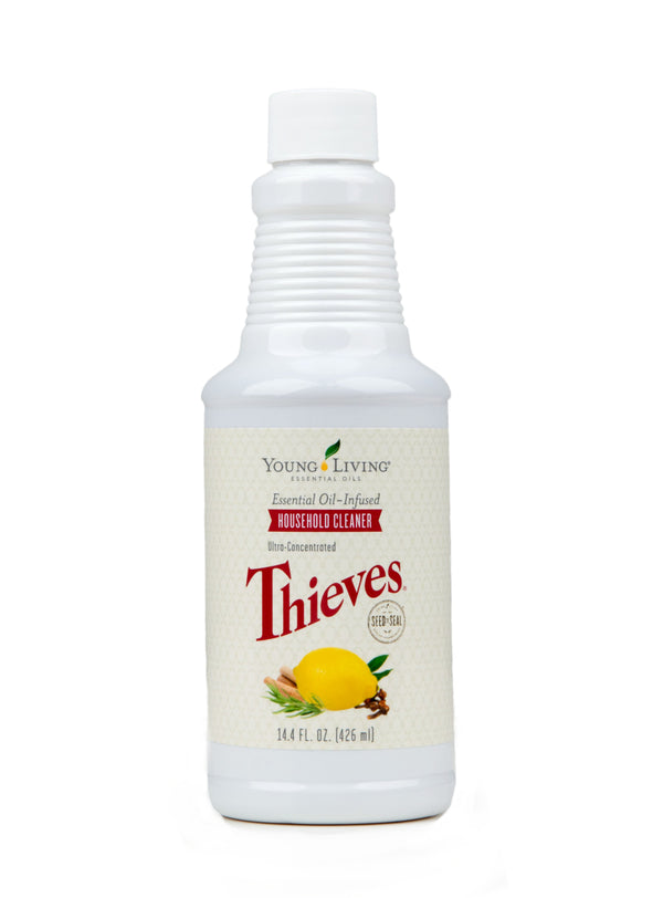 Thieves Household Cleaner cleaning concentrate that makes about 80 16 ounce bottles of all purpose cleaning spray