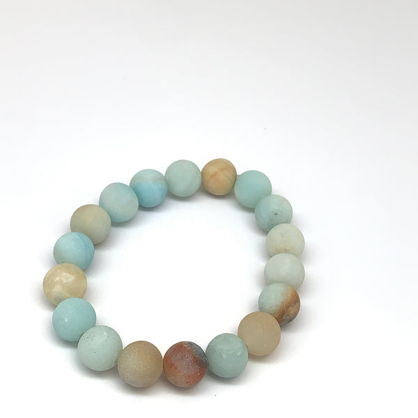 Frosted Amazonite Diffuser Bracelet