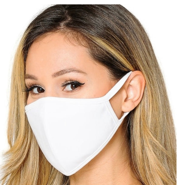 Washable 3-ply Moisture-Wicking Cotton Face Mask